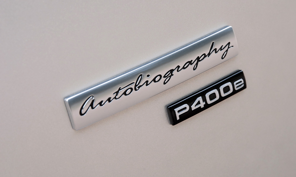 The P400e badge joins the Range Rover line-up, applied to PHEV variants.