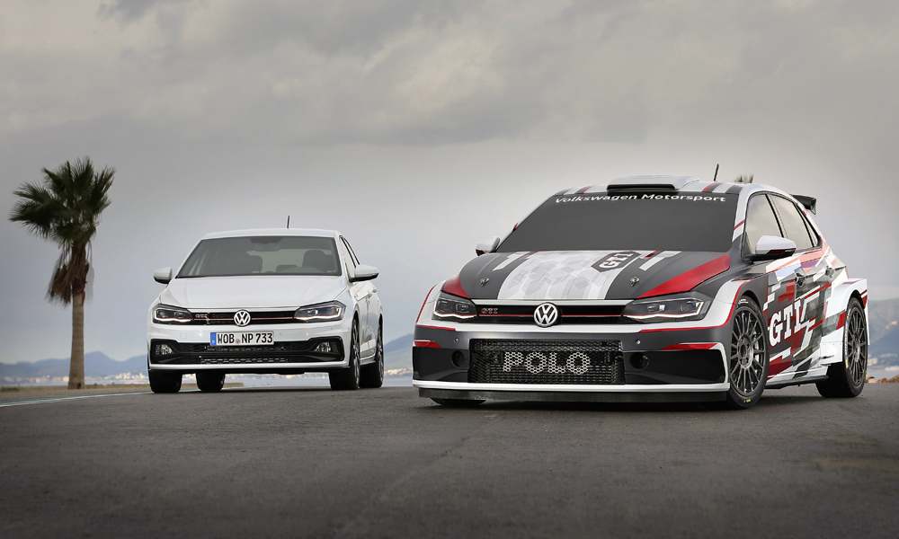 The Polo GTI R5 is based on the new, sixth-generation hatchback.