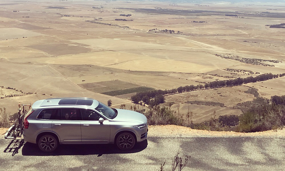 The Volvo XC90 during a weekend excursion.