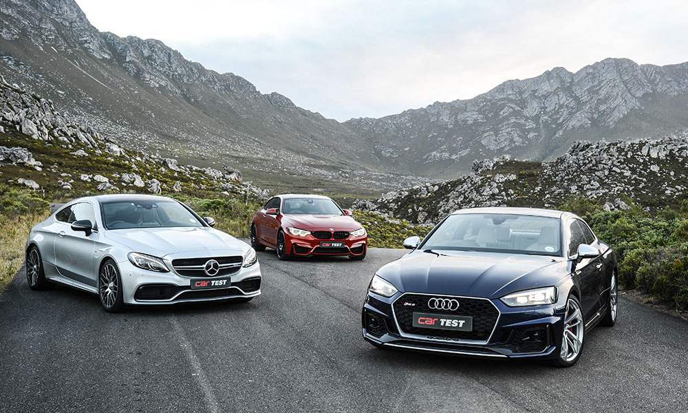 Aud RS5 Coupé vs. BMW M4 Competition Pack vs. Mercedes-AMG C63 S Coupé