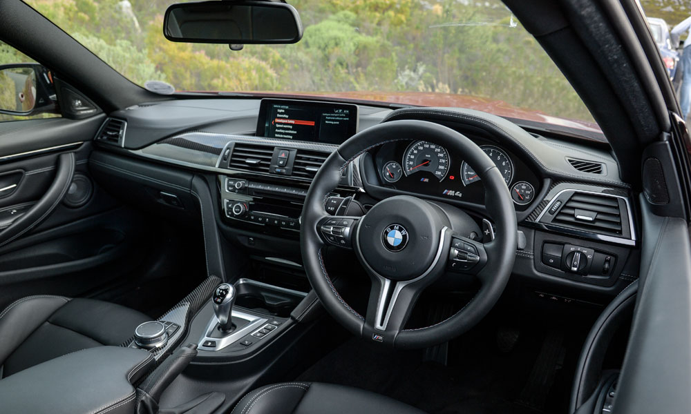 Cabin materials in the BMW are middling but build quality is solid.