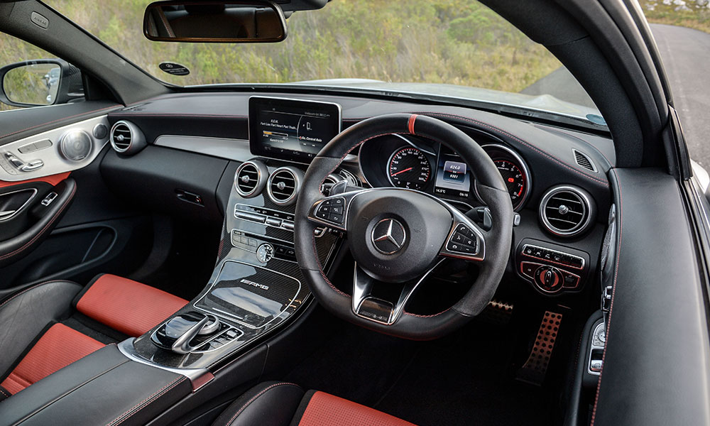 Mercedes features a characterful cabin, but creaks and rattles abound.
