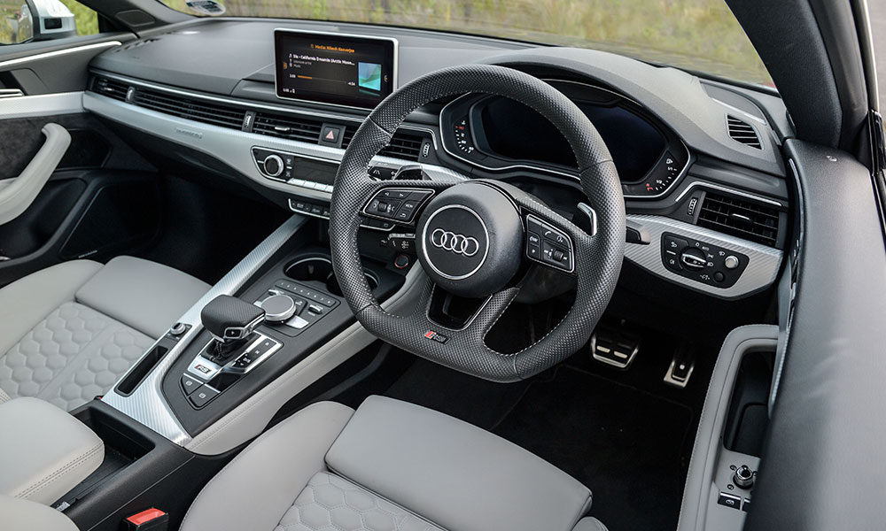 The cabin of the RS5 is conservative but feels the best assembled.