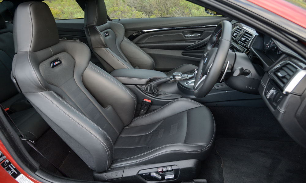 Contoured sports seats part of the package.