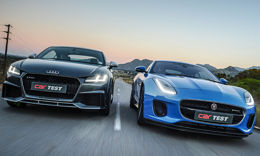 The Audi TT RS And Jaguar F Type 221 KW R Dynamic: Two ...