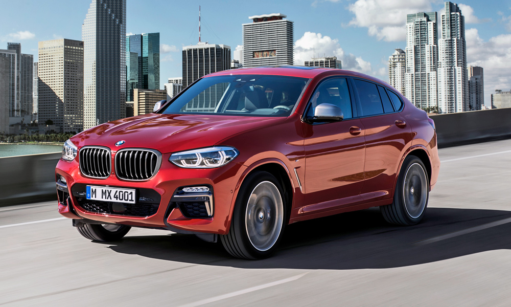 BMW has revealed its new X4, seen here in M40d guise.