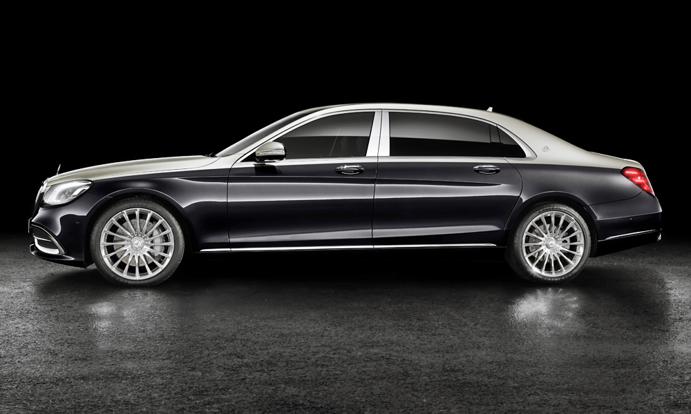 The Mercedes-Maybach S-Class features an extra-long wheelbase as standard.