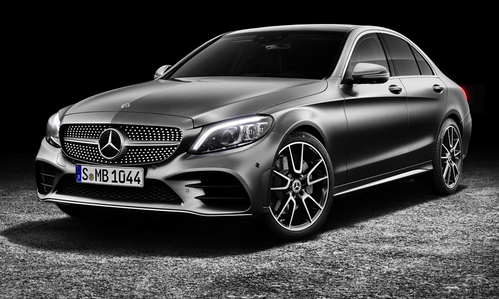 Mercedes-Benz has revealed its refreshed C-Class, seen here in AMG-Line guise.