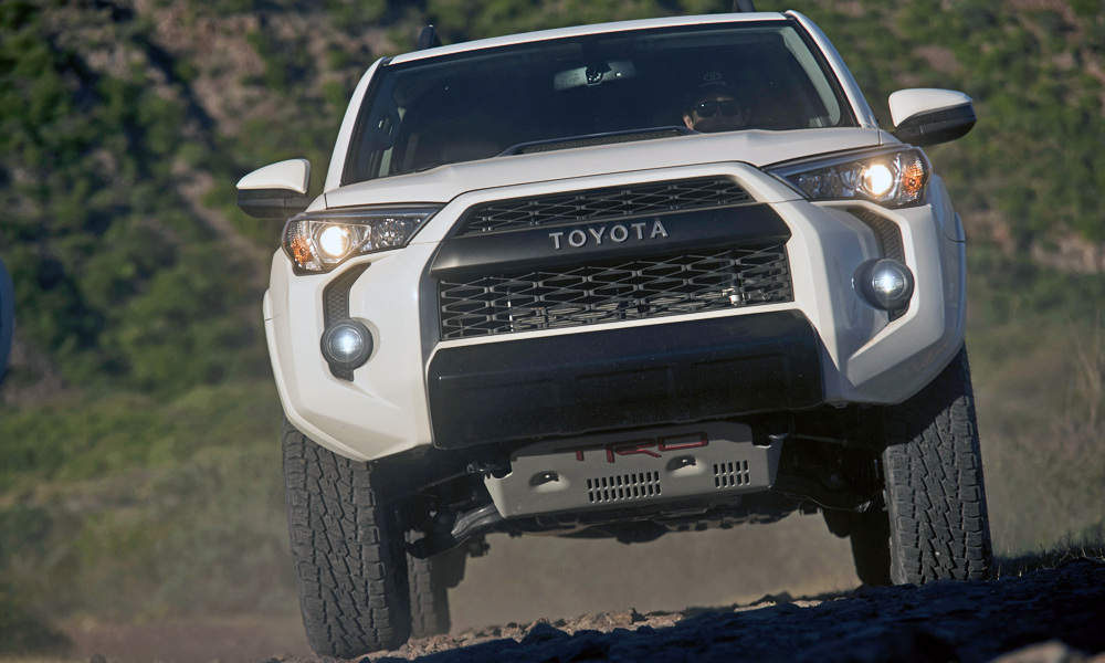 The TRD Pro 4Runner SUV joins the two bakkies in the range.