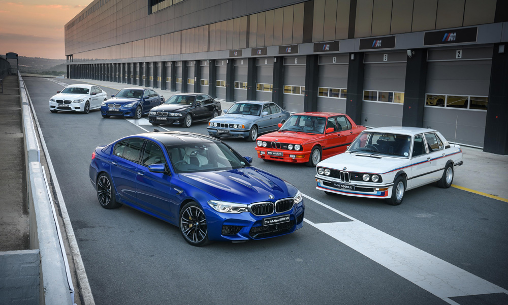 Every generation of M5, including our very own South African special, the 1976 530 MLE.