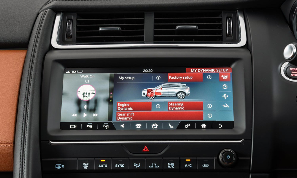This 10-inch touchscreen comes standard.