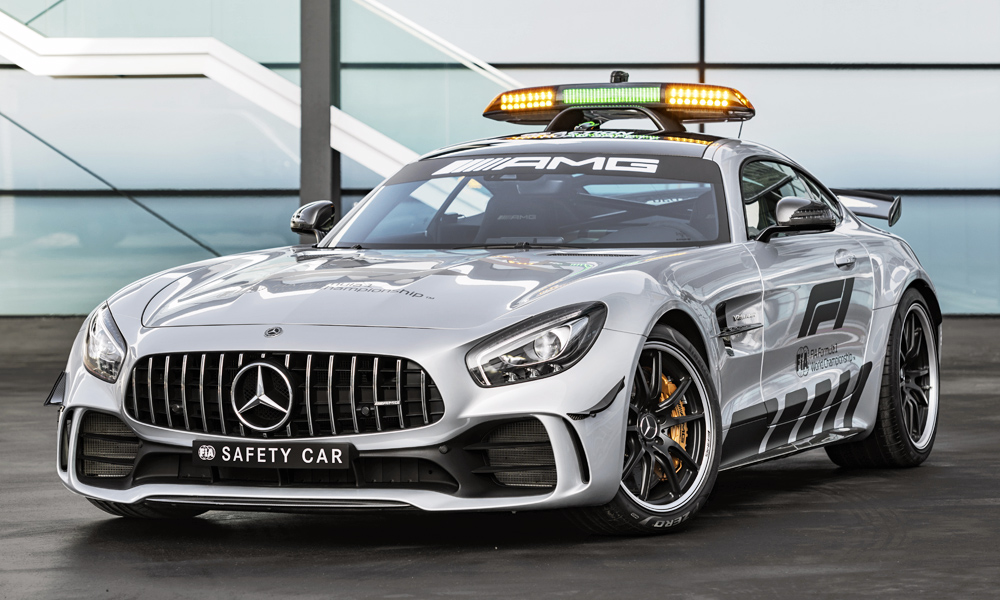 mercedes amg gt r revealed as 2018 f1 safety car car magazine. Black Bedroom Furniture Sets. Home Design Ideas