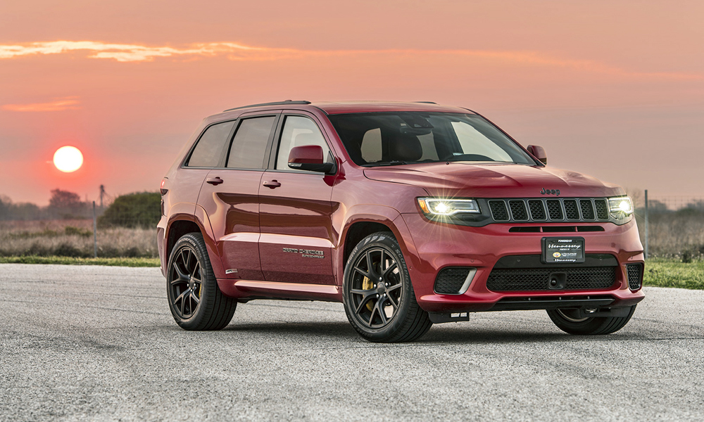 Hennessey Performance has released two upgrade packages for the Jeep Grand Cherokee Trackhawk.