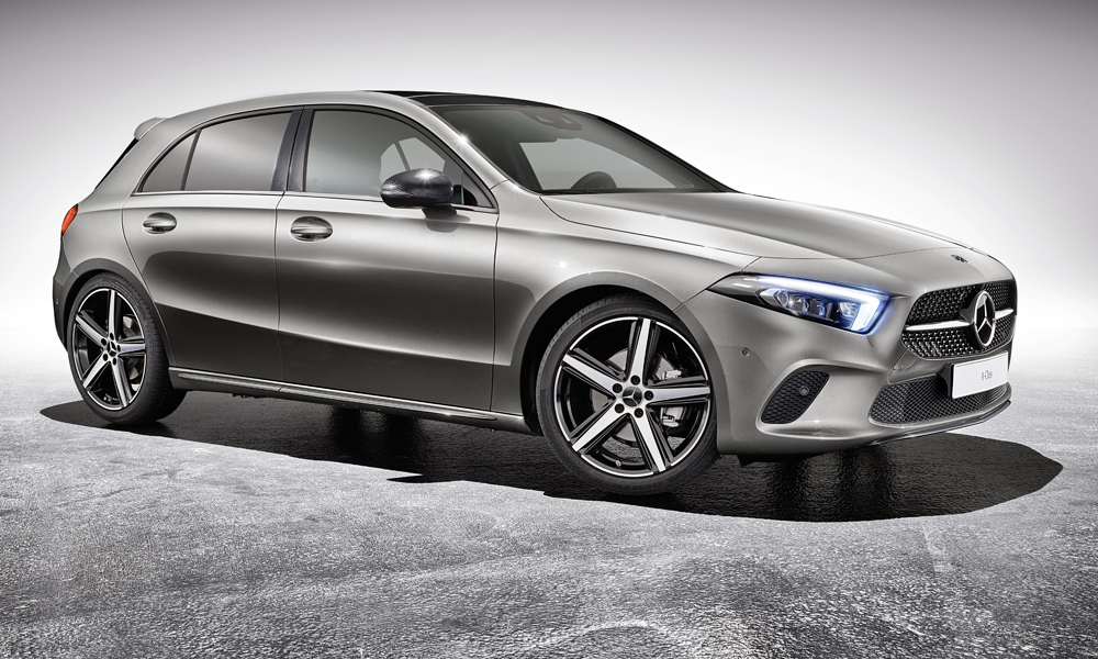 Mercedes benz reveals 39 sporty 39 accessories for new a class for Mercedes benz part numbers list