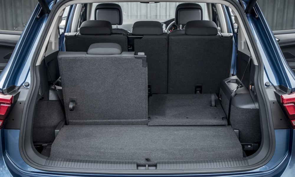 Boot space is increased by 115 L with the third row stowed