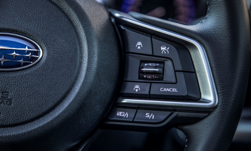 Adaptive cruise control is standard on the Outback.
