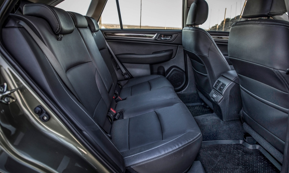 The rear quarters offer oodles of legroom, air vents and two USB ports.
