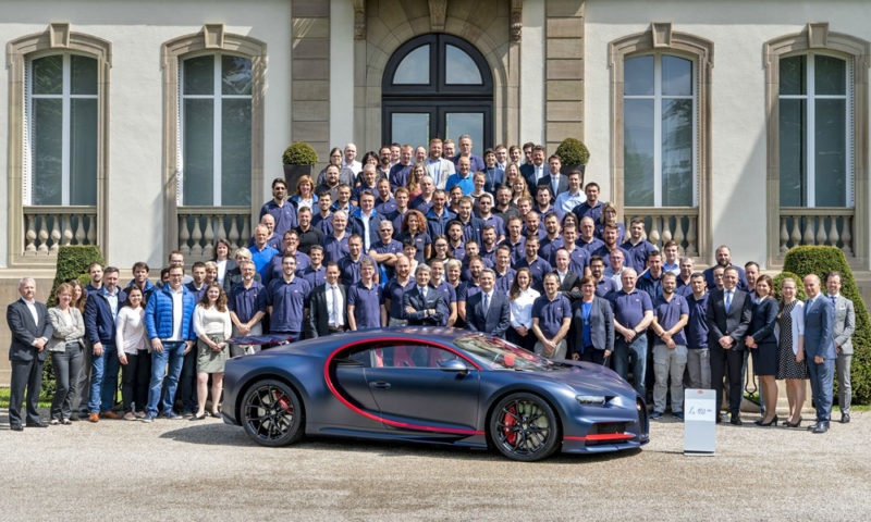 Bugatti Has Just Finished Building The 100th Of 500 Chiron Car