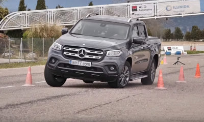 Mercedes-Benz X-Class undergoes Moose Test