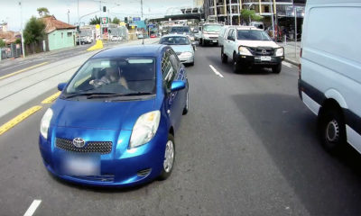 Toyota Yaris lane-change crash