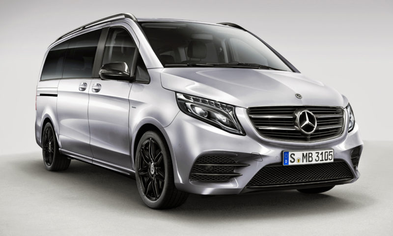 mercedes benz v class night edition adds some amg spirit car magazine. Black Bedroom Furniture Sets. Home Design Ideas