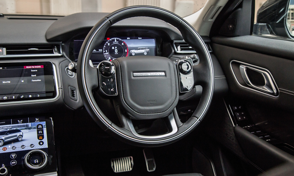 Steering wheel controls are configurable.