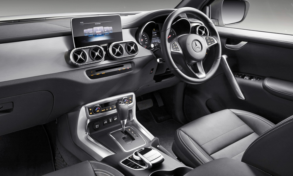 Various signature Mercedes-Benz elements have been added to the cabin.