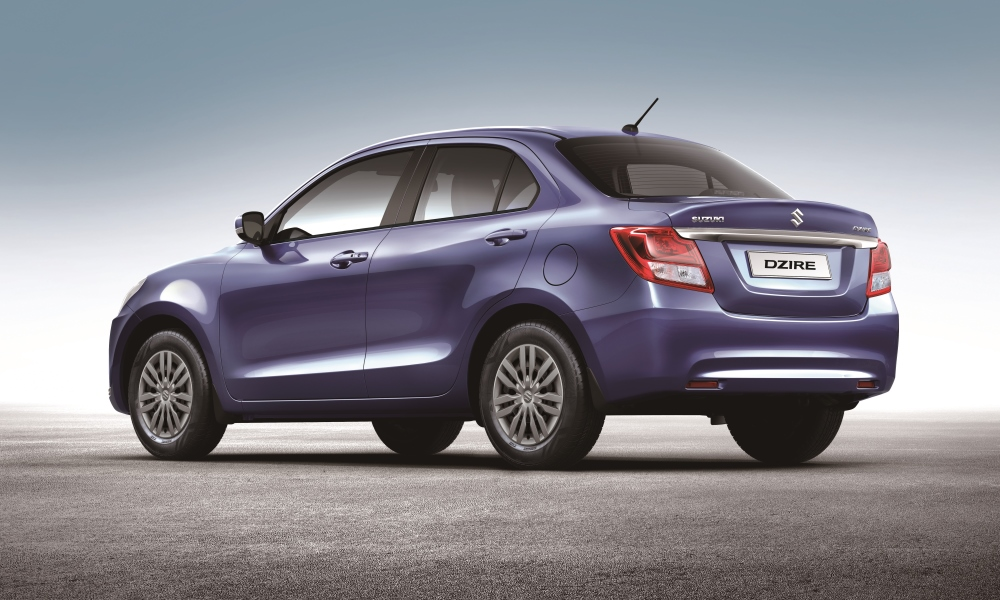 Rear styling of the new Suzuki Dzire is more cohesive than before.