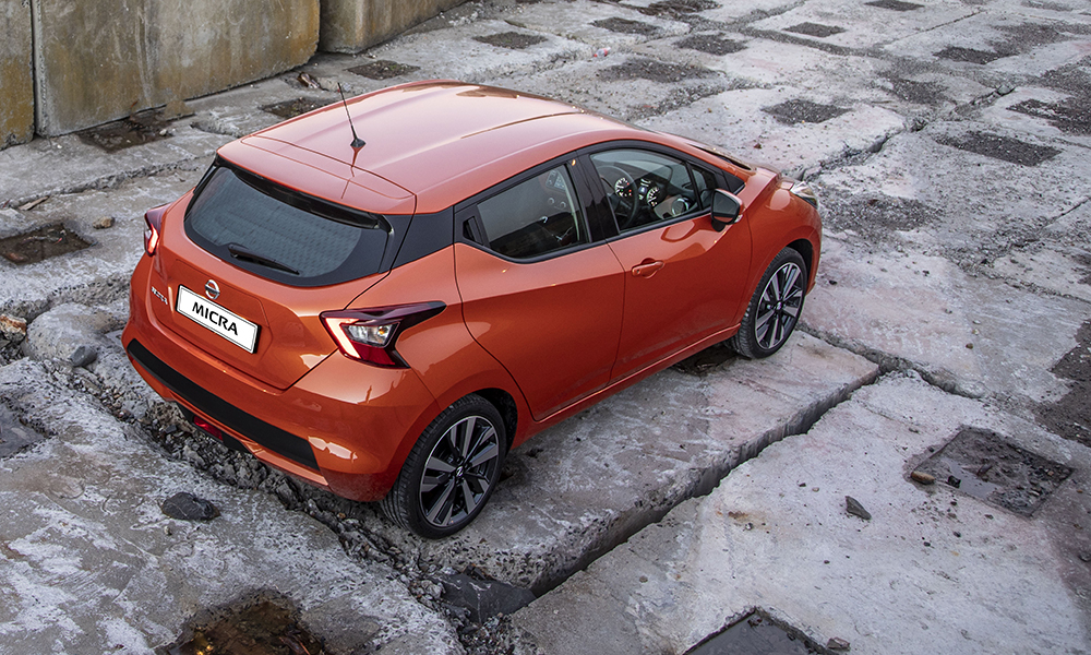 The new Micra comes with a choice of six exterior colours, including vibrant Energy Orange.