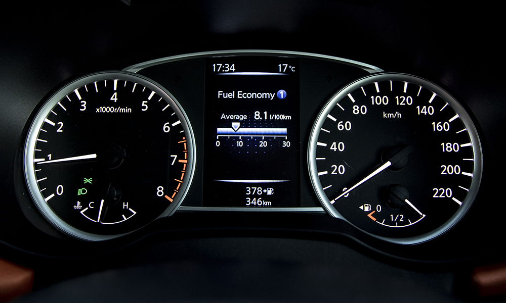 The Micra's seven-inch central display is supplemented by a five-inch colour TFT screen in the instrument cluster.