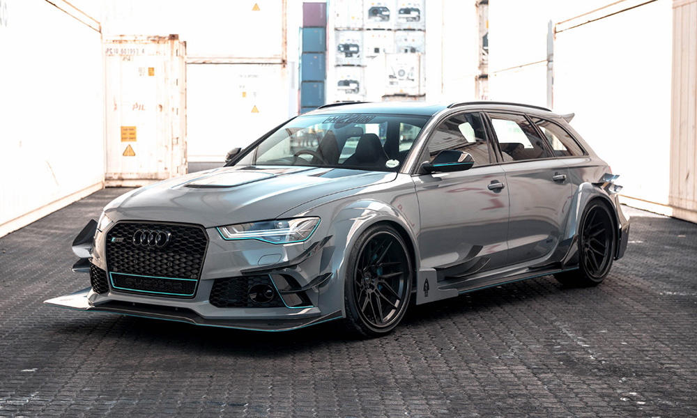 this crazy wide body audi rs6 was created here in sa car magazine. Black Bedroom Furniture Sets. Home Design Ideas