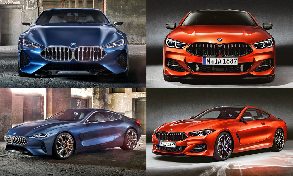 New Bmw 8 Series Coup 233 Concept Vs Production Car Magazine