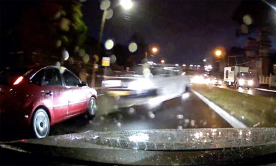 Out-of-control bakkie hits Ford Focus