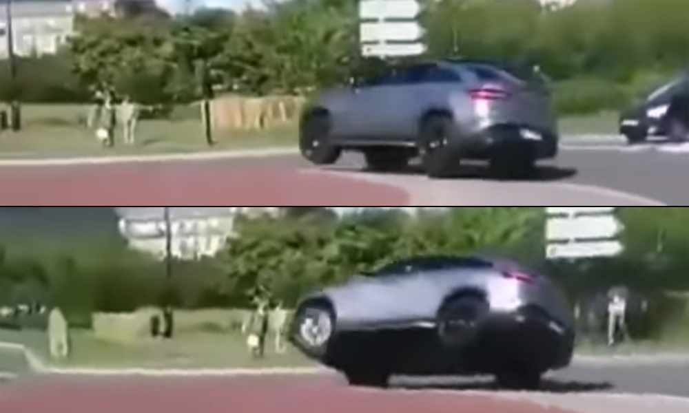 Mercedes-AMG GLE63 Coupé traffic circle crash