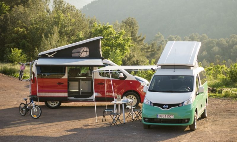Nissan e-NV200 and NV300 Camper
