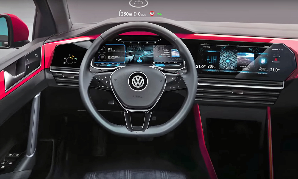 volkswagen golf 8 to boast dual screen cockpit report. Black Bedroom Furniture Sets. Home Design Ideas