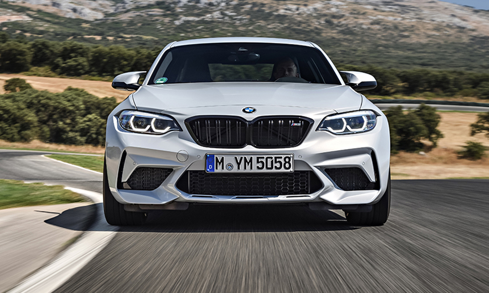The new BMW M2 Competition features an Individual Shadow Line package as standard, which paints various trim bits in gloss black.