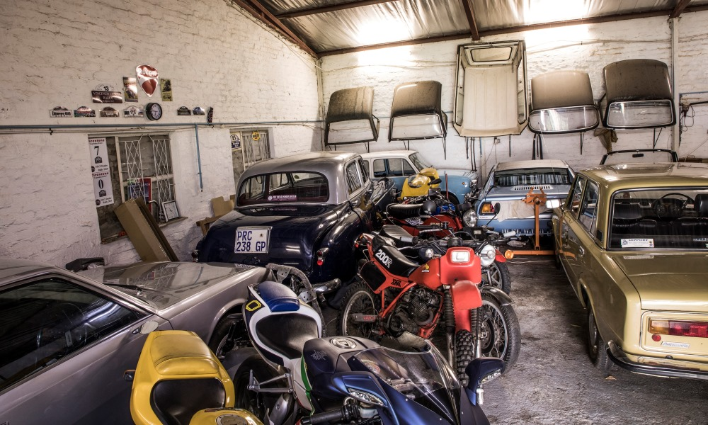 Huntly owns various motorcycles, including two Ducatis, an MV Agusta F4 R and a Honda 200XR.