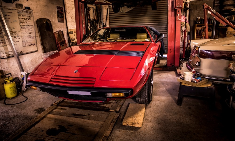 A 1982 Maserati Khamsin. This specific car is the last right-hand-drive version built.