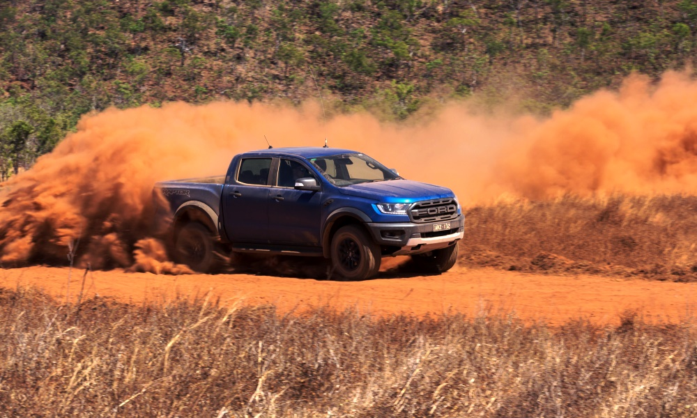 The Ranger Raptor sits 50 mm higher than a standard Ranger.
