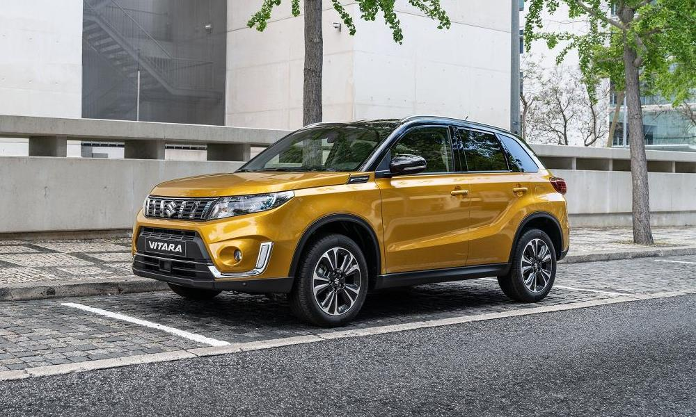 The updated Vitara gets a redesigned front-end.