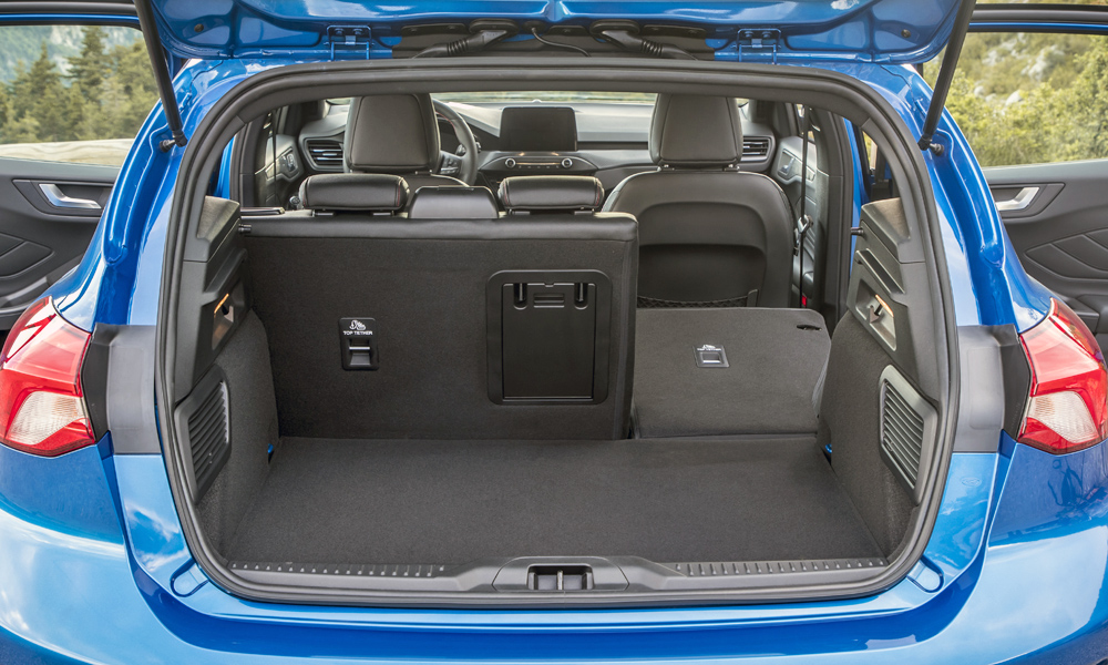 Ford claims the boot will swallow 375 litres.