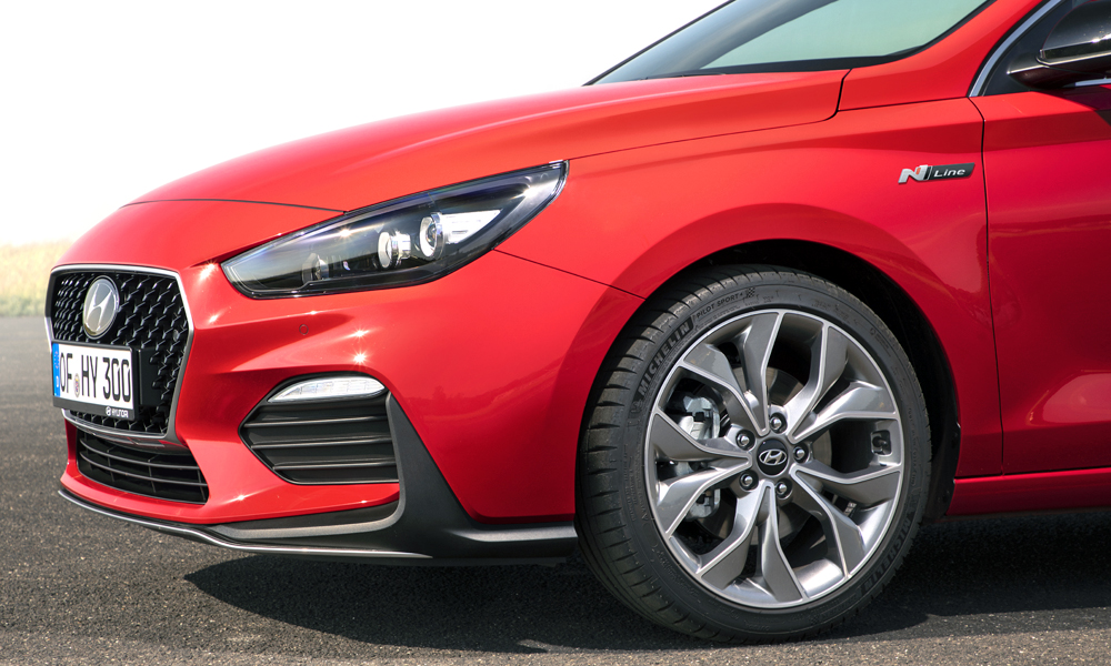 The 18-inch alloys are wrapped in Michelin rubber.