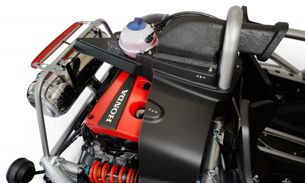Power comes from a Honda K20C engine placed on the rear axle.