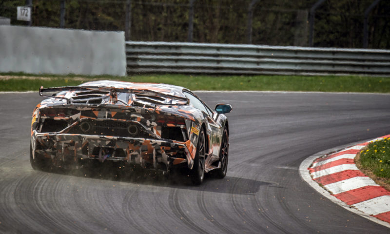 The Lamborghini Aventador SVJ at the Nürburgring Nordschleife.