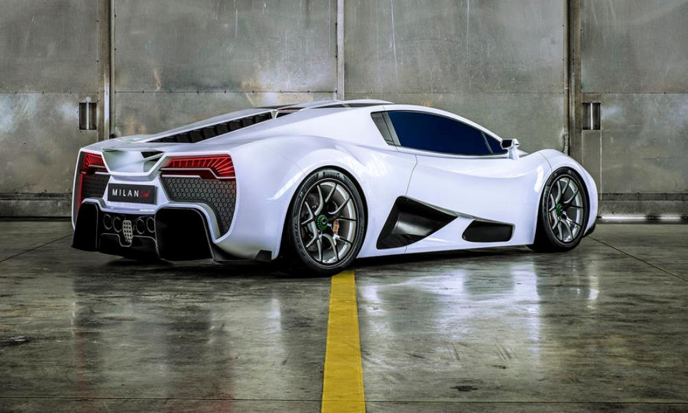 It has a quad-turbo V8 which puts it in hypercar territory.