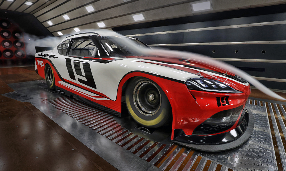 The Supra has been scaled fit NASCAR's specifications.