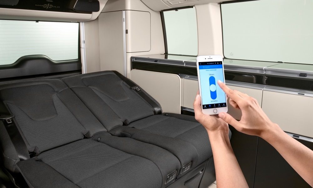 Interior features can be controlled with a smartphone.