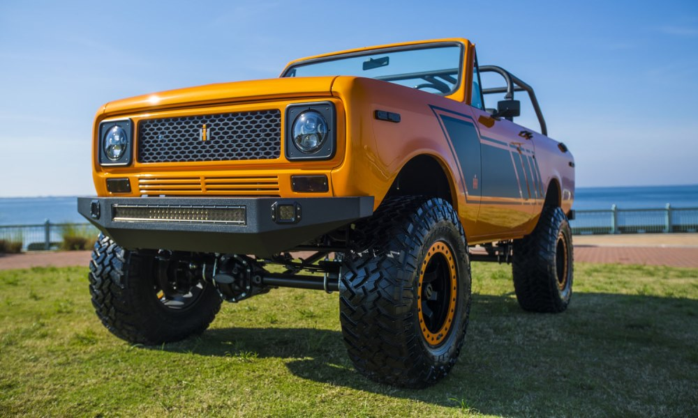 This custom International Scout was created by Velocity Restorations.