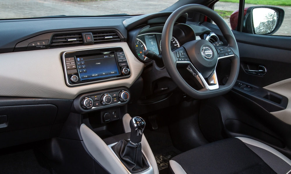 Modern facia feels solidly built, but it's a pity about the plastic steering wheel.